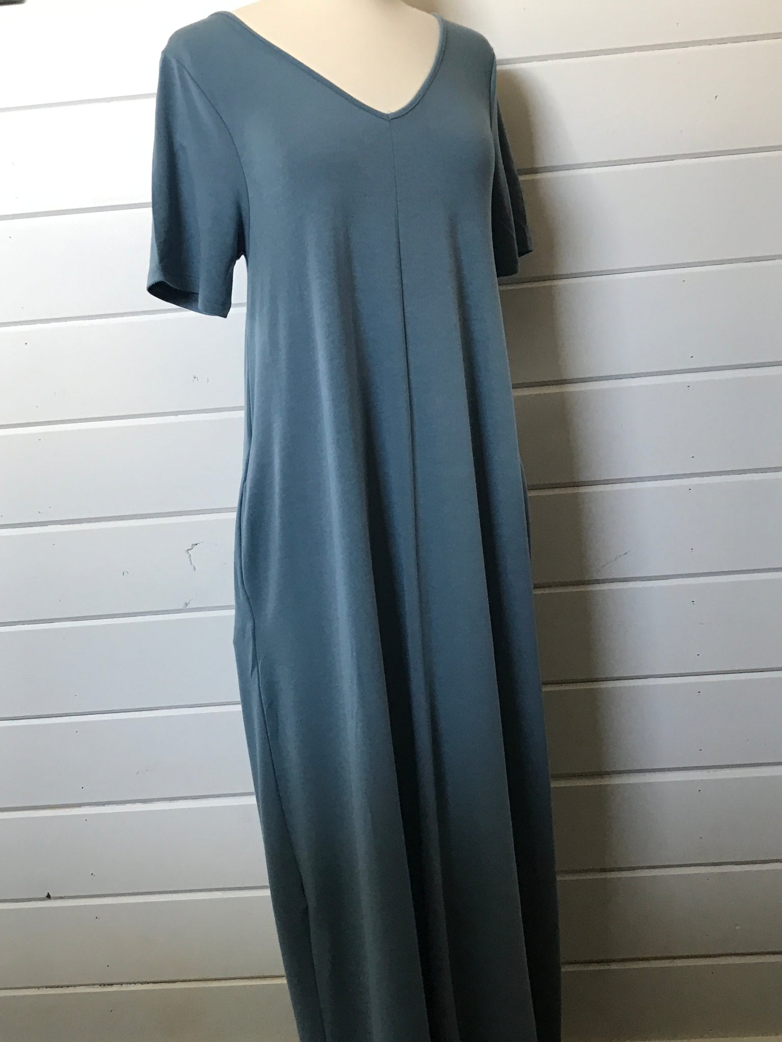 Casual Maxi Dress in Titanium