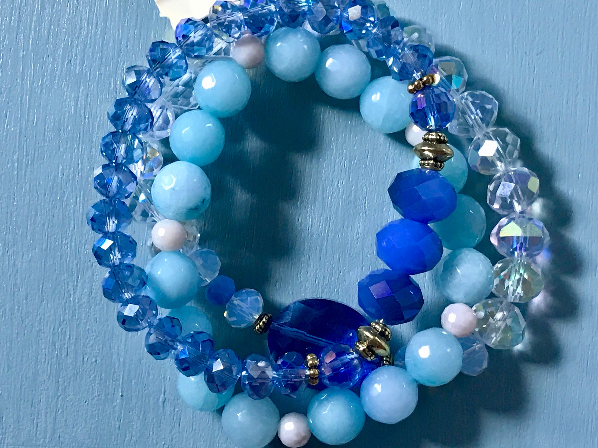 Set of 3 Crystal Bracelets