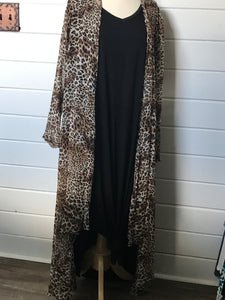 Leopard Print Sheer Duster