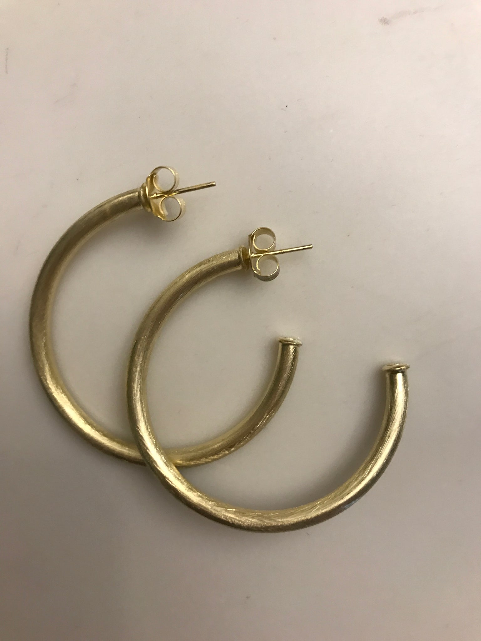 18 carat gold plated loops