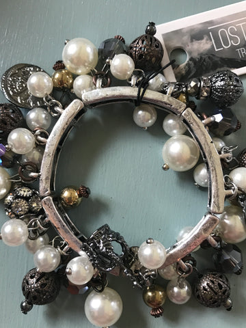 Trinket Stretch Bracelets with Pearls