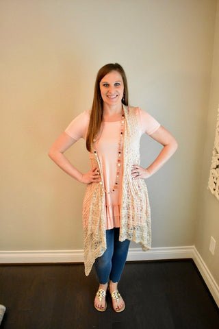 Lovely in Lace Vest