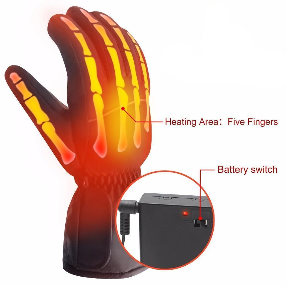 Battery Powered Waterproof Heated Gloves - Trend Deals