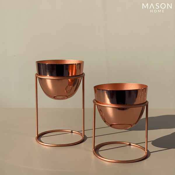 OLVERA DESK PLANTER SET - ROSE GOLD
