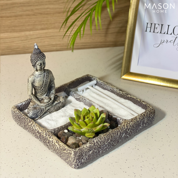 MEDITATING BUDDHA - SQUARE