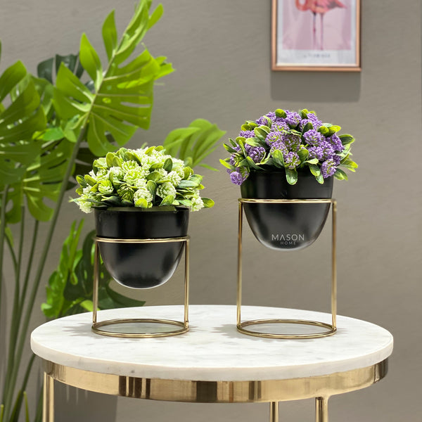 OLVERA DESK PLANTER SET - BLACK - Mason Home by Amarsons - Lifestyle & Decor