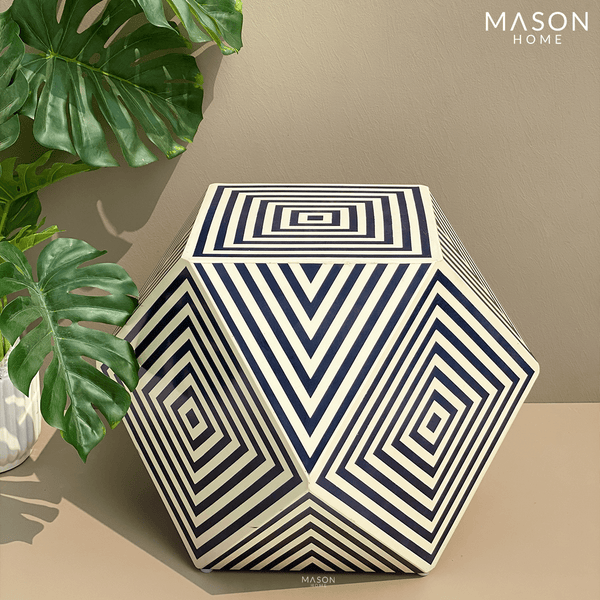 GIZA RESIN TABLE BLUE - Mason Home by Amarsons - Lifestyle & Decor