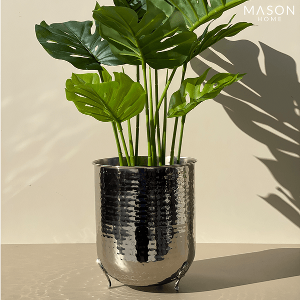 SAFI PLANTER SILVER - Mason Home by Amarsons - Lifestyle & Decor