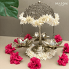 ANTIQUE LOTUS DIYA STAND - SMALL