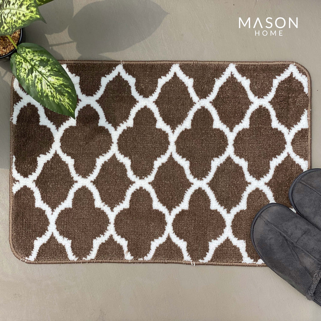 BATH MAT - BROWN CLOVER LEAF