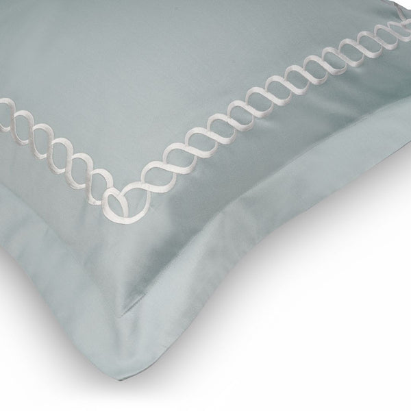 PETALS  BEDDING SET - FROST GREEN