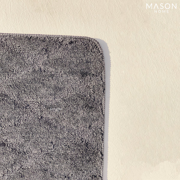 BATH MAT - GREY CRISSCROSS - Mason Home by Amarsons - Lifestyle & Decor