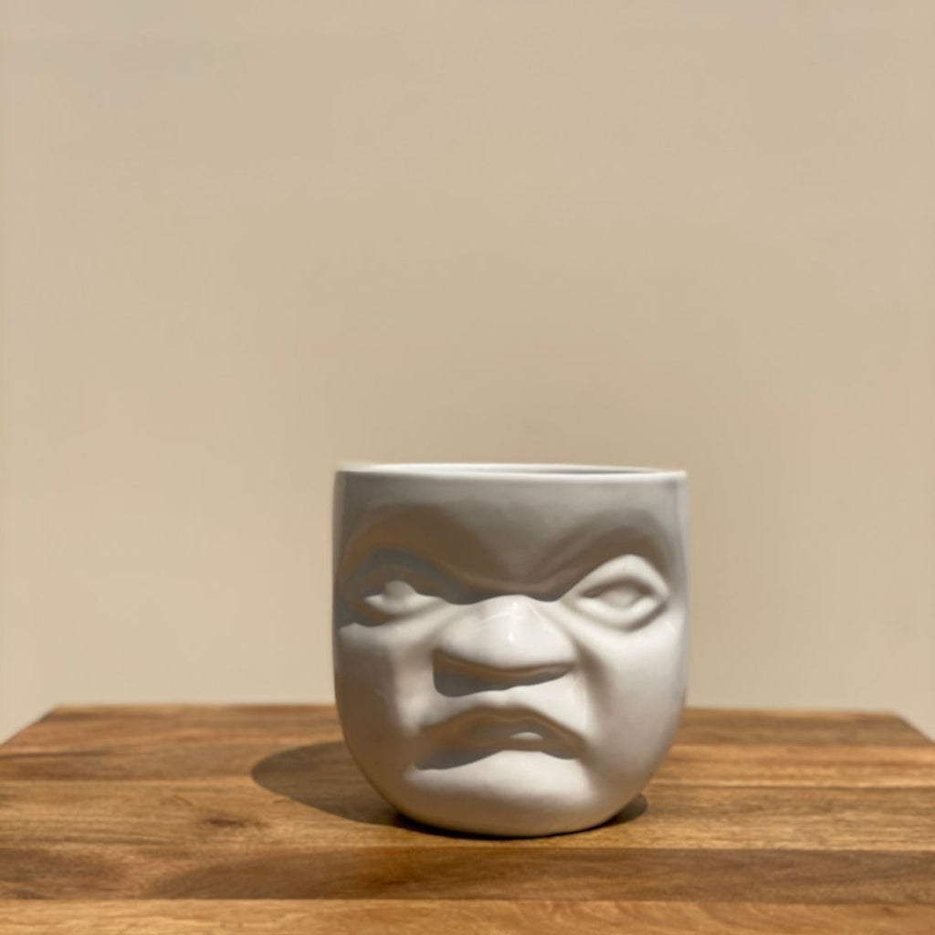 CERAMIC POT PLANTER WITH A FACE - Mason Home by Amarsons - Lifestyle & Decor