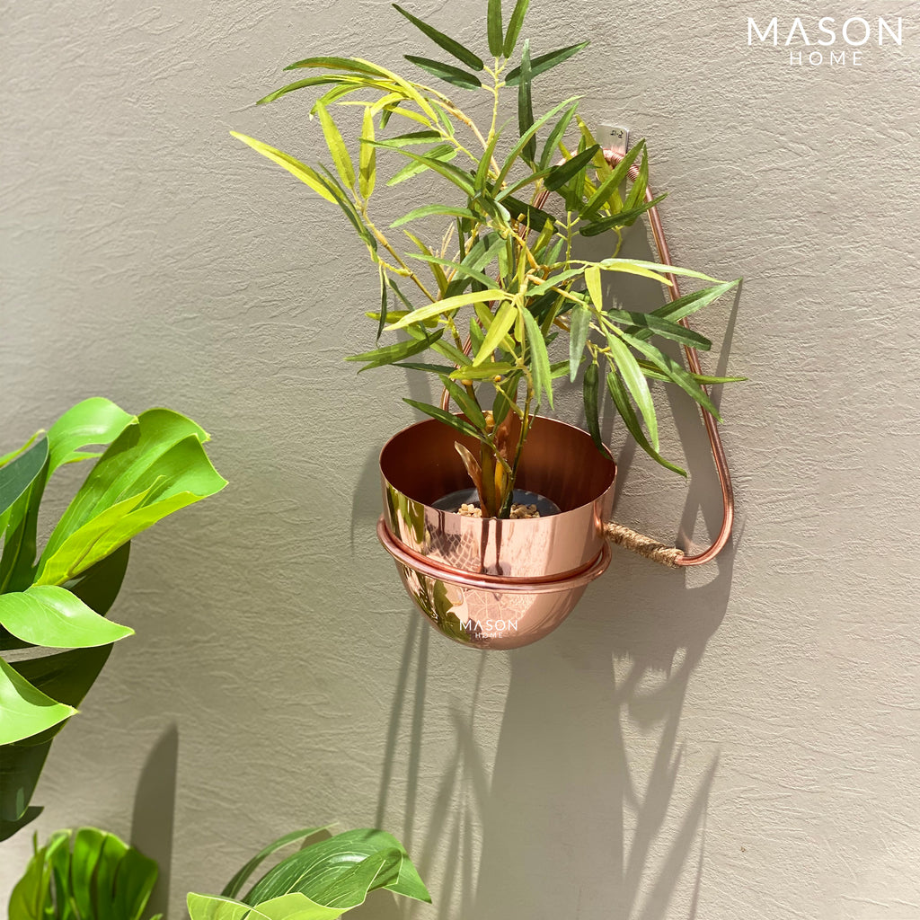 TRIANGULAR HANGING PLANTER - ROSE GOLD - Mason Home by Amarsons - Lifestyle & Decor