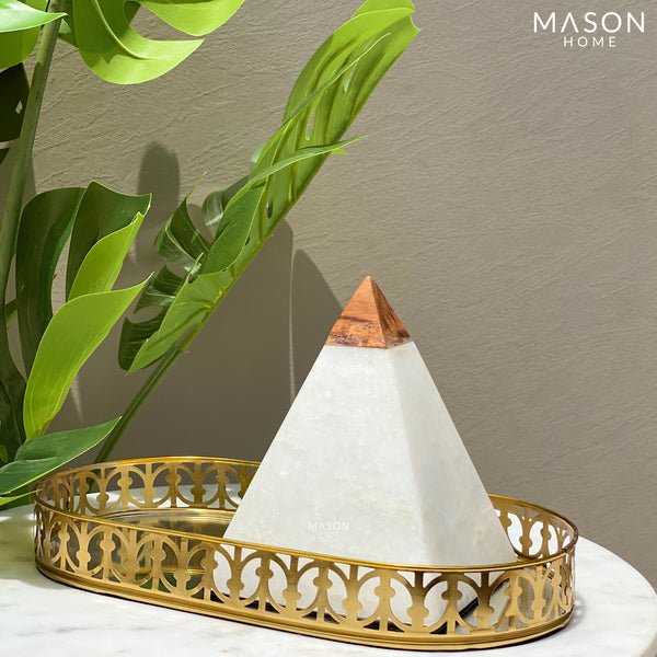 MARBLE PYRAMID WITH WOODEN ACCENT - Mason Home by Amarsons - Lifestyle & Decor