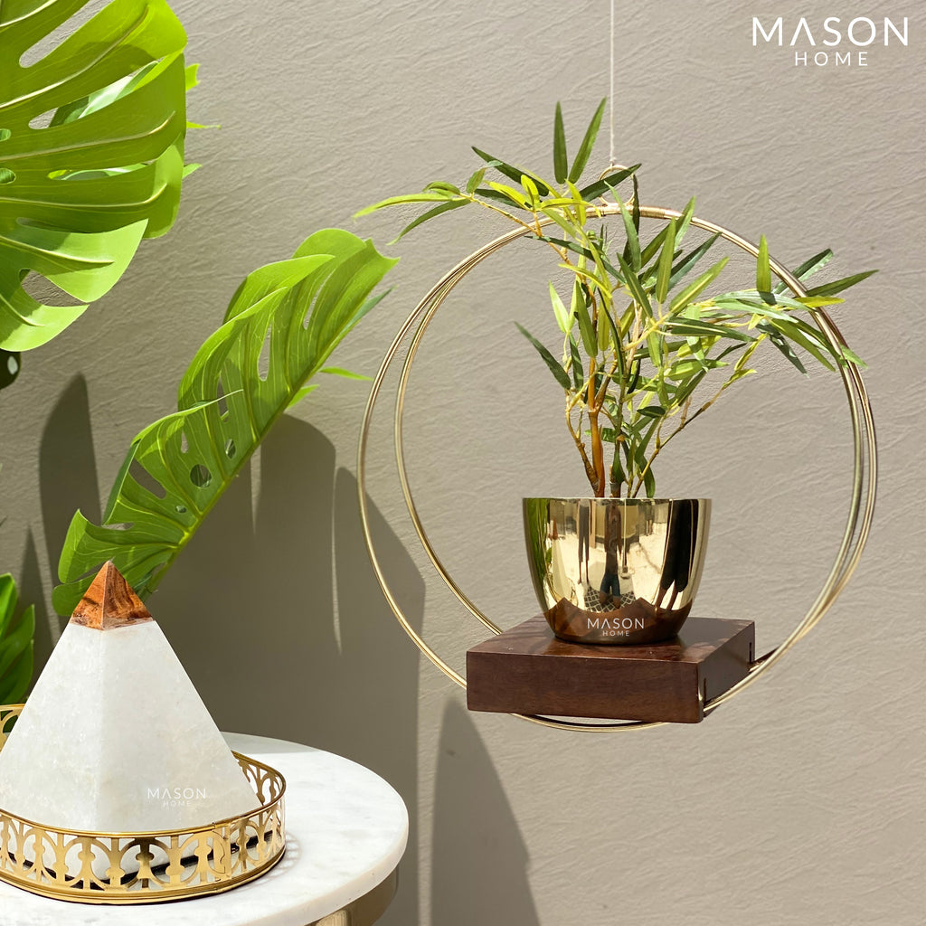 CIRCULAR HANGING PLANTER - GOLD - Mason Home by Amarsons - Lifestyle & Decor