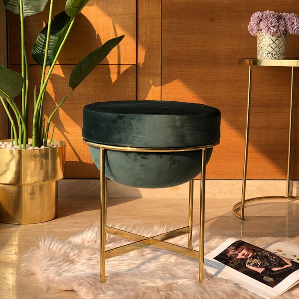 MARAIS POUF - EMERALD GREEN - Mason Home by Amarsons - Lifestyle & Decor