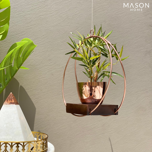 CIRCULAR HANGING PLANTER - ROSE GOLD - Mason Home by Amarsons - Lifestyle & Decor