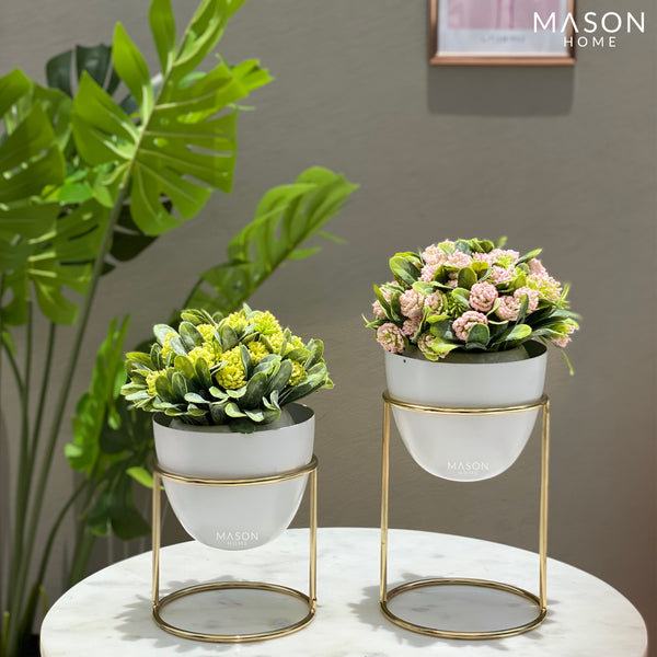 OLVERA DESK PLANTER SET - WHITE - Mason Home by Amarsons - Lifestyle & Decor