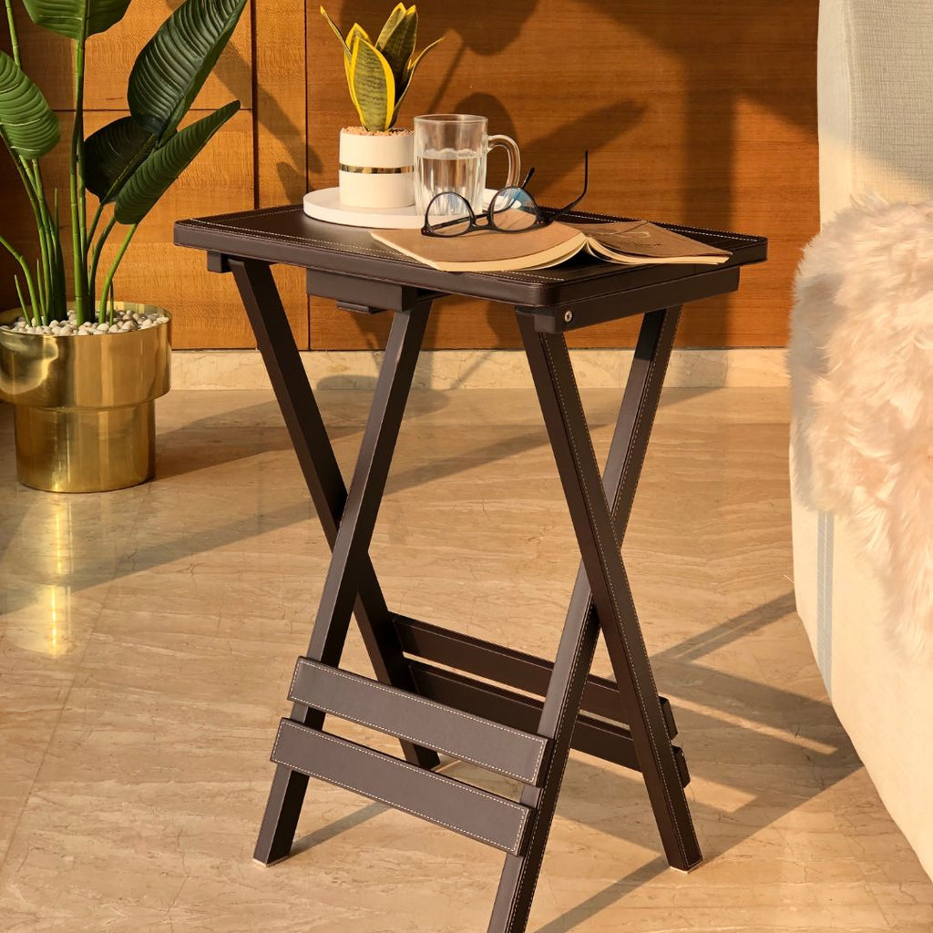 FOLDABLE TABLE - BROWN - Mason Home by Amarsons - Lifestyle & Decor