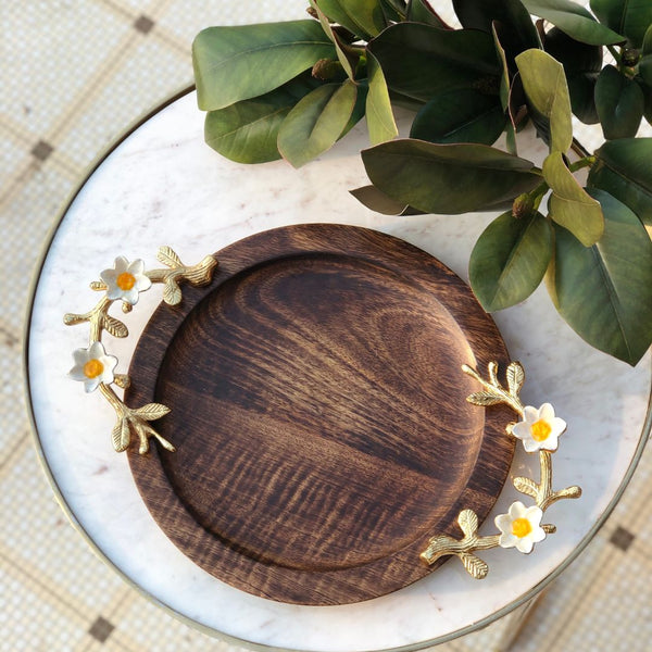 DAISY WOODEN TRAY - ROUND - Mason Home by Amarsons - Lifestyle & Decor
