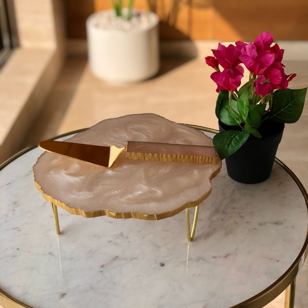 LAVA RESIN CAKE STAND SET - PEARL WHITE - Mason Home by Amarsons - Lifestyle & Decor