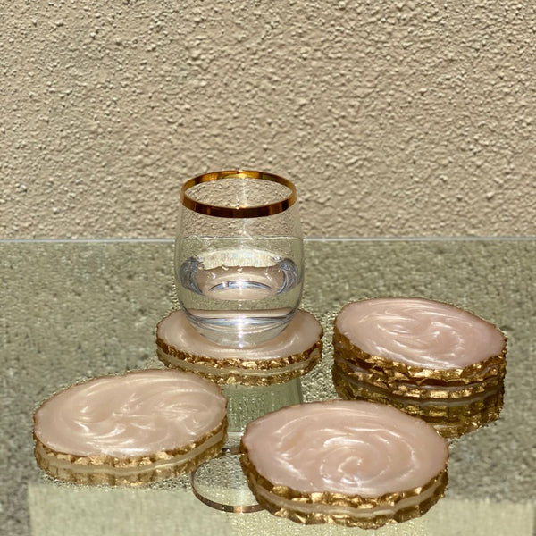 LAVA RESIN COASTERS - PEARL WHITE (Set of 6) - Mason Home by Amarsons - Lifestyle & Decor
