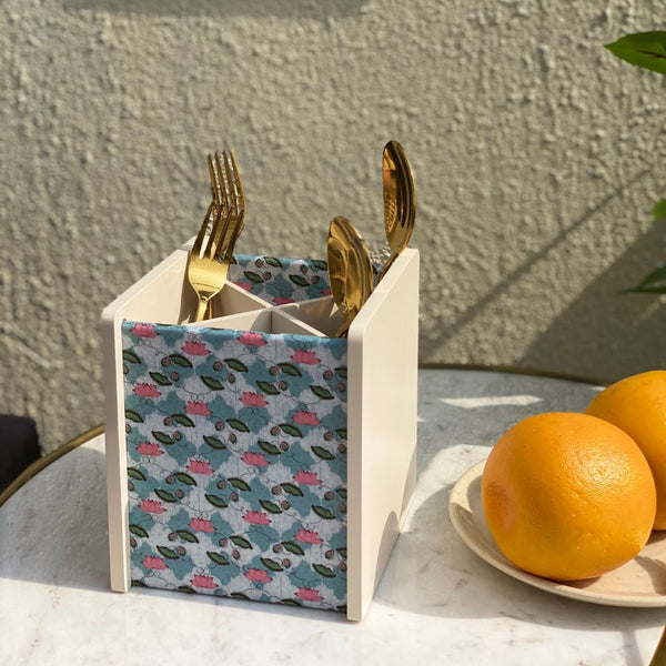 TEAL LOTUS CUTLERY HOLDER - Mason Home by Amarsons - Lifestyle & Decor