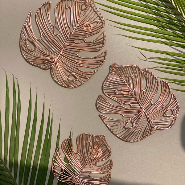 FIJI LEAF SET IN ROSE GOLD - Mason Home by Amarsons - Lifestyle & Decor