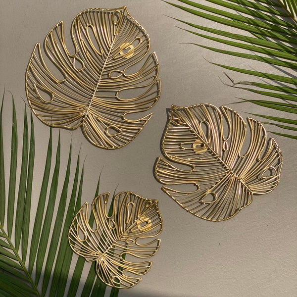 FIJI LEAF SET IN GOLD - Mason Home by Amarsons - Lifestyle & Decor