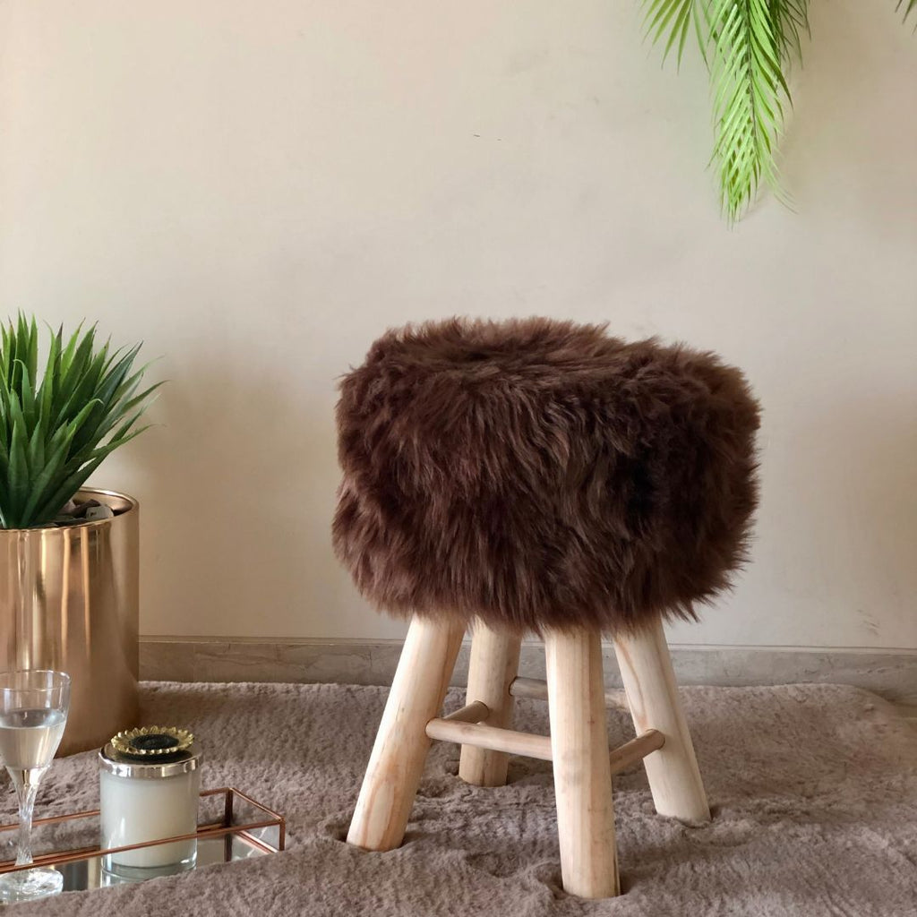 SULLY POUF COFFEE BROWN - Mason Home by Amarsons - Lifestyle & Decor