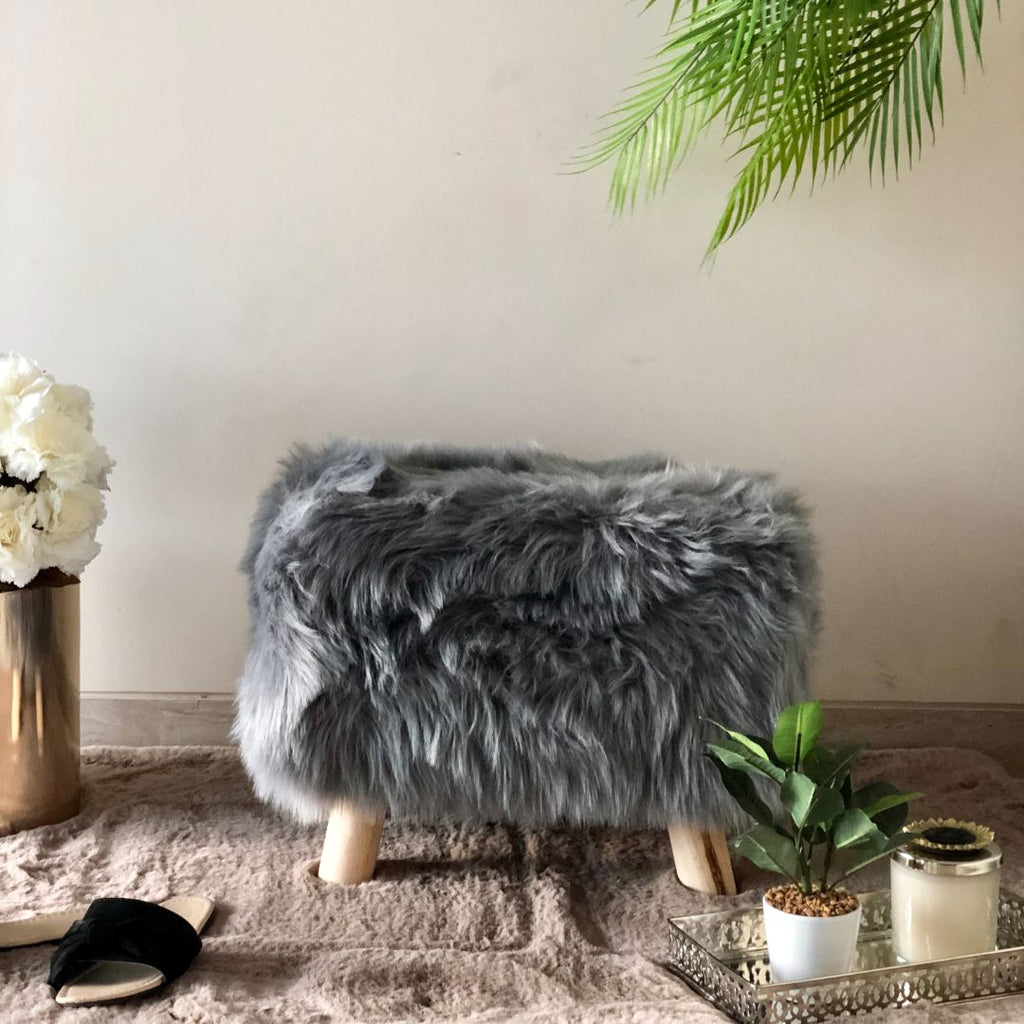 RIVOLI RECTANGLE POUF GREY - Mason Home by Amarsons - Lifestyle & Decor