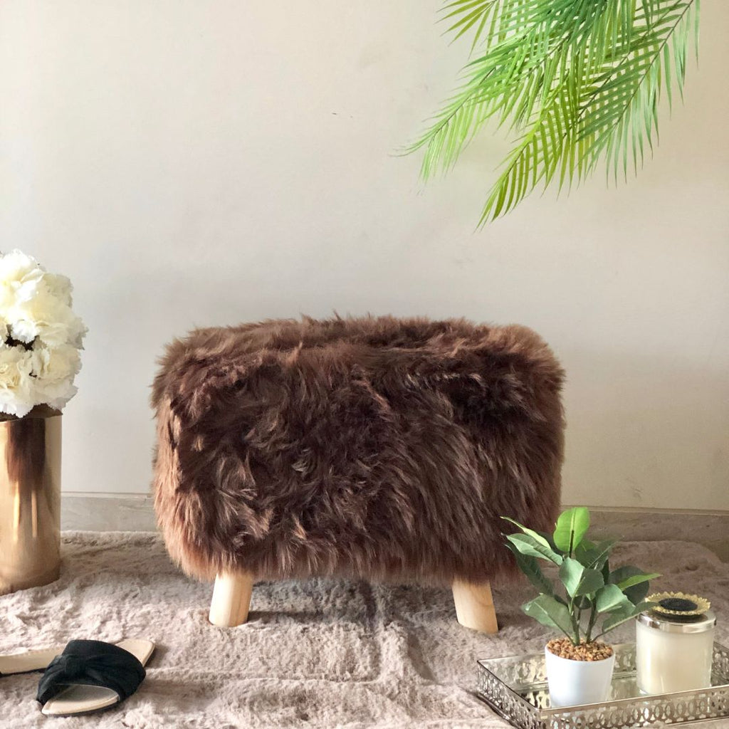RIVOLI RECTANGLE POUF COFFEE BROWN - Mason Home by Amarsons - Lifestyle & Decor