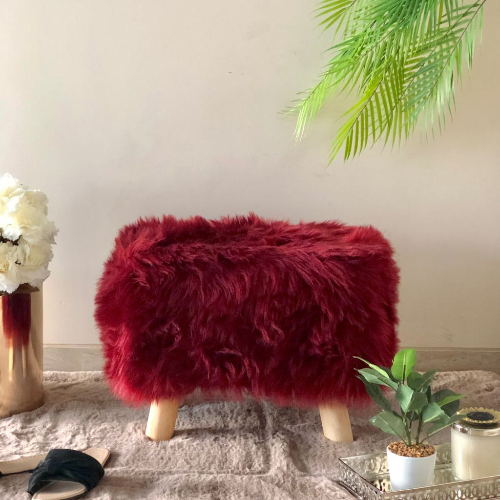 RIVOLI RECTANGLE POUF ROUGE - Mason Home by Amarsons - Lifestyle & Decor