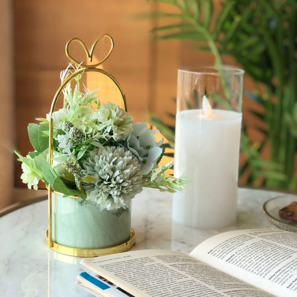 PARIS FLEUR BUNCH SMALL - MINT GREEN - Mason Home by Amarsons - Lifestyle & Decor