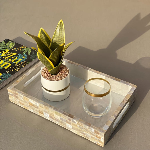 MOTHER OF PEARL TRAY RECTANGLE (SMALL) - Mason Home by Amarsons - Lifestyle & Decor