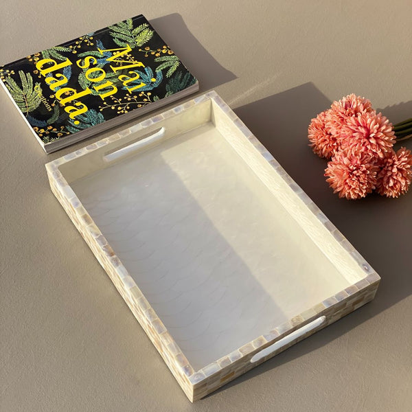 MOTHER OF PEARL TRAY RECTANGLE (MEDIUM) - Mason Home by Amarsons - Lifestyle & Decor