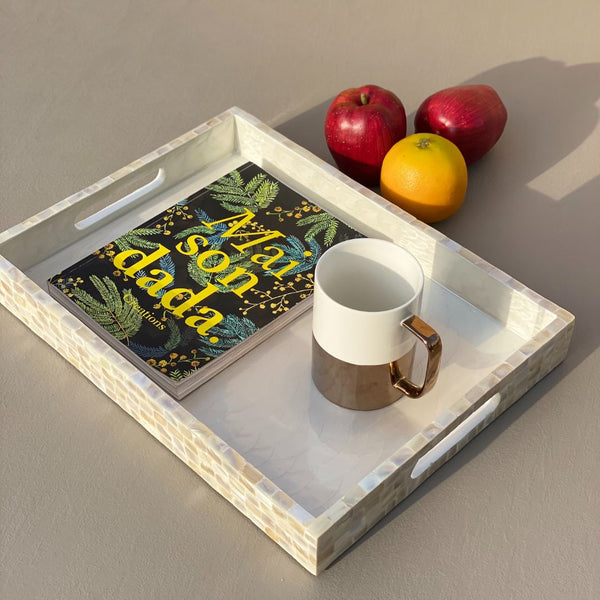 MOTHER OF PEARL TRAY RECTANGLE (LARGE) - Mason Home by Amarsons - Lifestyle & Decor