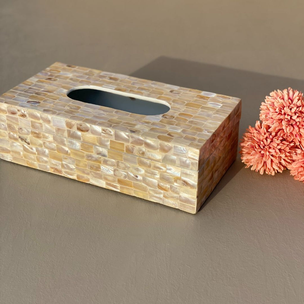 MOTHER OF PEARL TISSUE BOX - Mason Home by Amarsons - Lifestyle & Decor