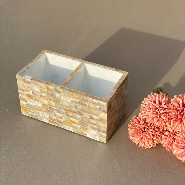 MOTHER OF PEARL CUTLERY HOLDER - Mason Home by Amarsons - Lifestyle & Decor