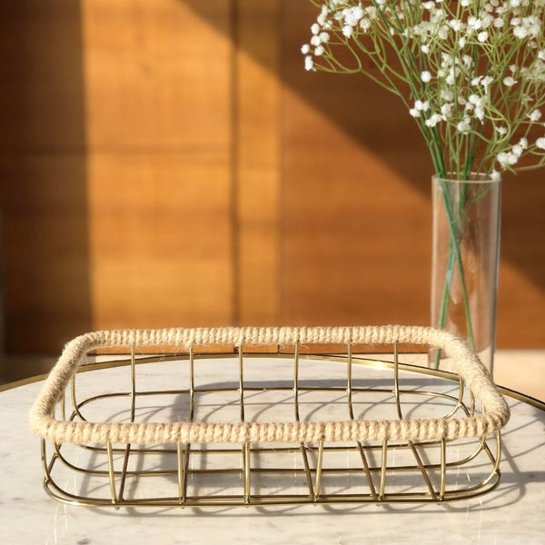 SOCHI BASKET GOLD - SMALL - Mason Home by Amarsons - Lifestyle & Decor