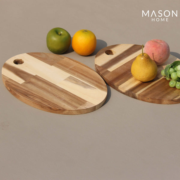WOODEN CHOPPING BOARD - SET OF 2