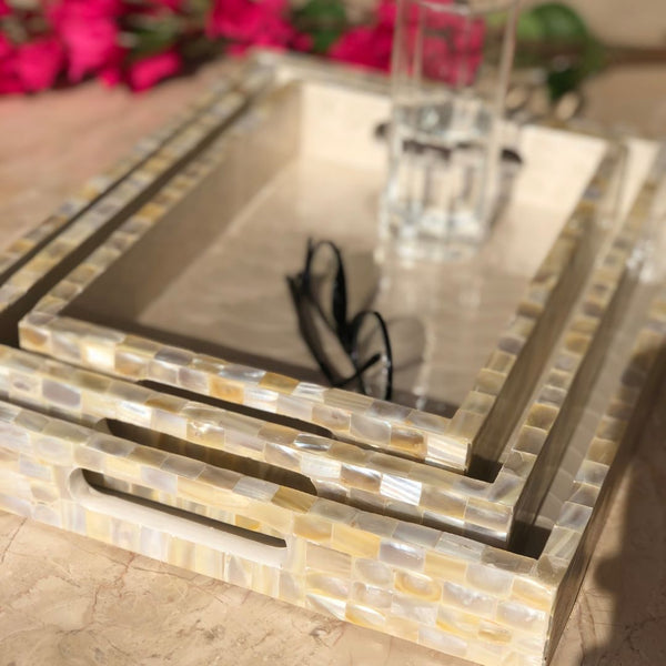 MOTHER OF PEARL TRAY RECTANGLE (SMALL)