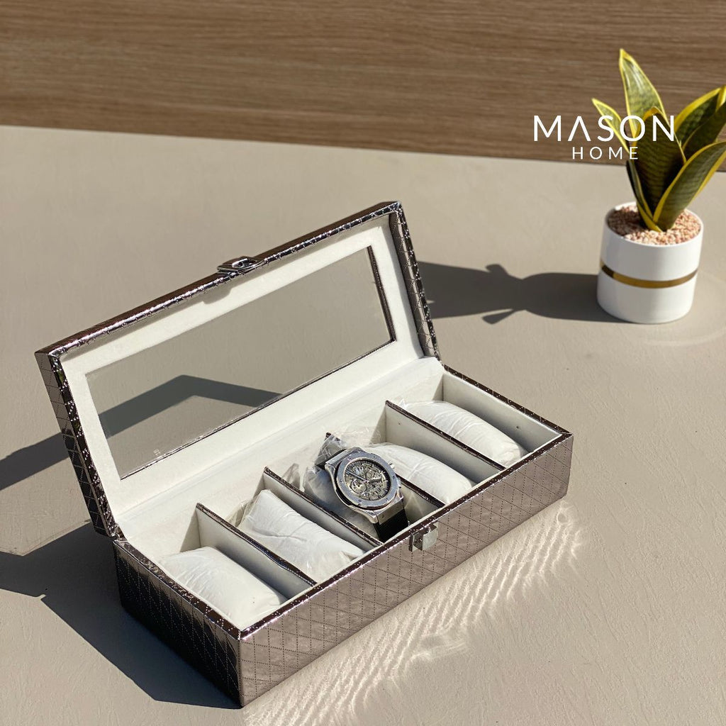 WATCH BOX - GUN METAL - Mason Home by Amarsons - Lifestyle & Decor