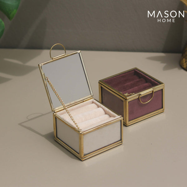 MILAN RING BOX - CREAM