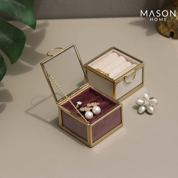 MILAN RING BOX - DUSTY PINK