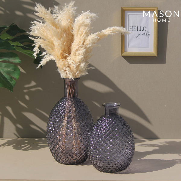 PINEAPPLE VASE BLACK - MEDIUM
