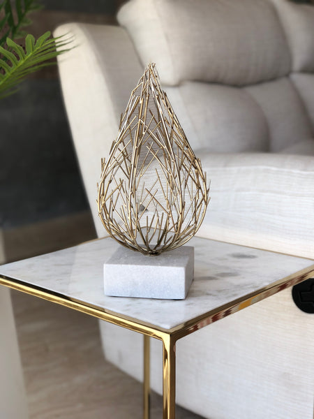 PYKE FLAME TABLE ACCENT - GOLD - Mason Home by Amarsons - Lifestyle & Decor