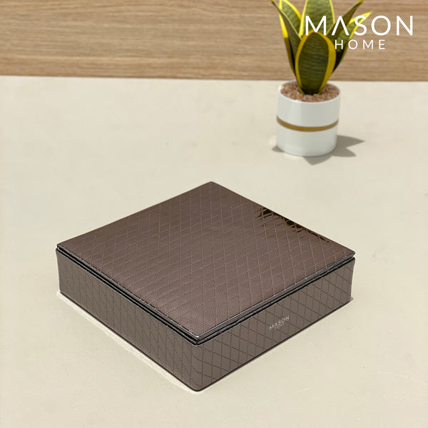 MULTIPURPOSE ACCESSORIES BOX - GUN METAL - Mason Home by Amarsons - Lifestyle & Decor