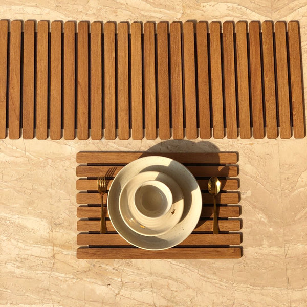 WOODEN PLACEMATS - BROWN SET OF 2 - Mason Home by Amarsons - Lifestyle & Decor
